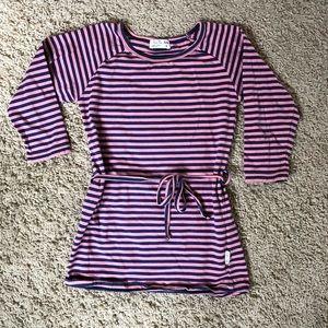 Mini Fin striped tunic dress